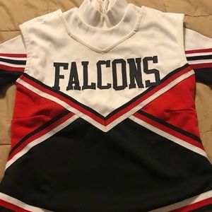 Cheerleader Shell and Vest Halloween Costume L